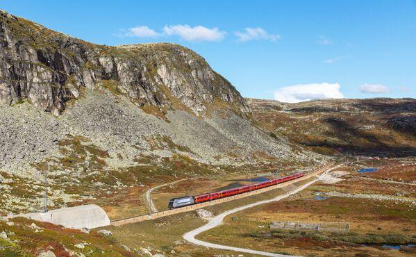 Trasa kolejowa łącząca Oslo i Bergen w Norwegii - Sputnik Polska