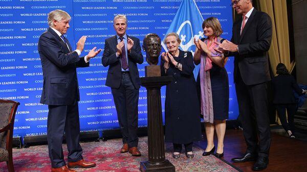 Odsłonięcie popiersia byłego prezydenta Czechosłowacji i Czech Vaclava Havla na Uniwersytecie Columbia w Nowym Jorku - Sputnik Polska
