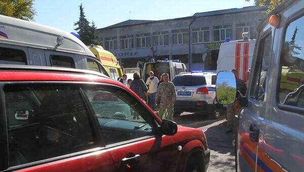 Szkoła wyższa w Kerczu, gdzie doszło do zamachu - Sputnik Polska