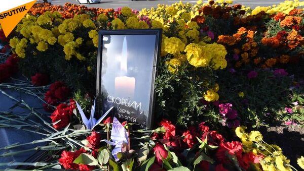 Żałoba w Kerczu dla uczczenia ofiar masowego zabójstwa - Sputnik Polska