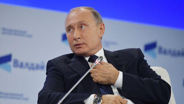Prezydent Rosji Władimir Putin na posiedzeniu klubu Wałdaj - Sputnik Polska