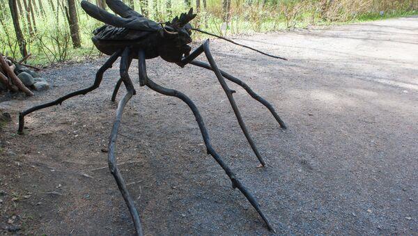 Drewniana rzeźba komara w parku w Karelii - Sputnik Polska