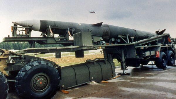 Amerykańskie pociski balistyczne Pershing II na bazie USA w Niemczech, 1987 r. - Sputnik Polska