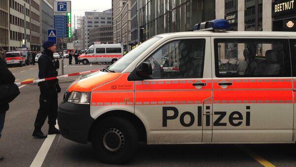 Samochód szwajcarskiej policji w Zurychu - Sputnik Polska