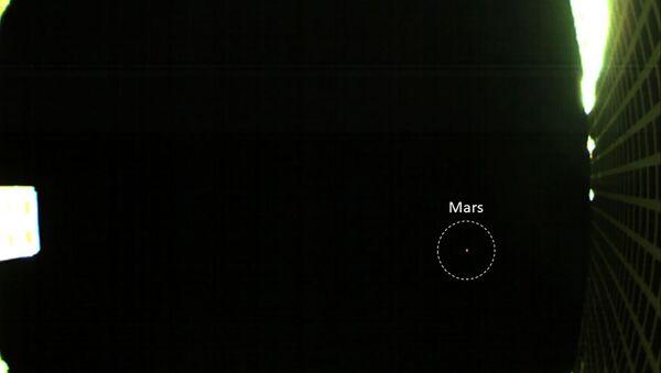 Zdjęcie Marsa zrobione przez jedną z sond MarCo - Sputnik Polska