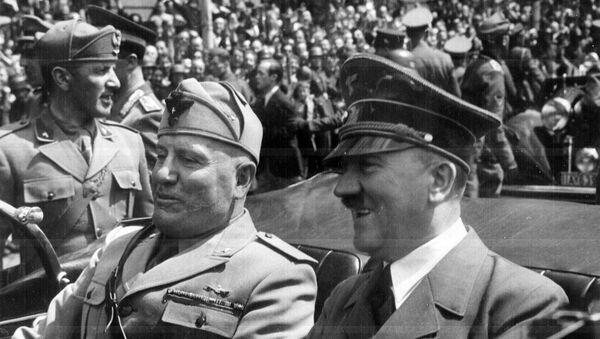 Adolf Hitler i Benito Mussolini w Monachium, 1940 rok - Sputnik Polska