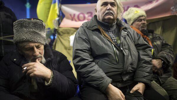 Zwolennicy eurointegracji w Kijowie - Sputnik Polska