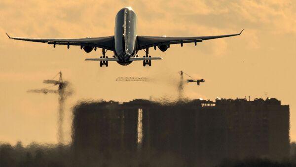 Samolot Airbus A330 na lotnisku Szeremietiewo w Moskwie - Sputnik Polska