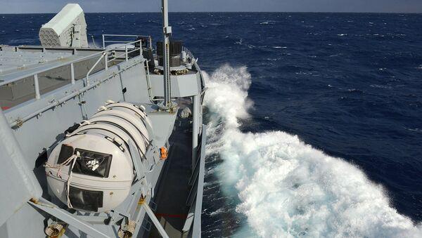 Okręt NATO podczas ćwiczeń wojskowych - Sputnik Polska