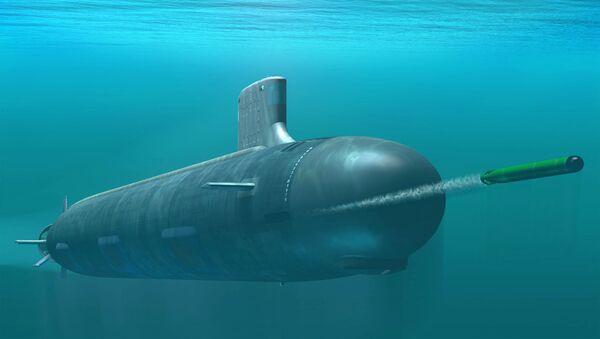 "Ilustracja okrętu podwodnego USS Indiana klasy ""Virginia"" - Sputnik Polska"