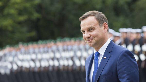 Prezydent Polski Andrzej Duda podczas wizyty w Niemczech - Sputnik Polska