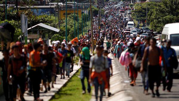 Karawana migrantów, Meksyk-USA - Sputnik Polska