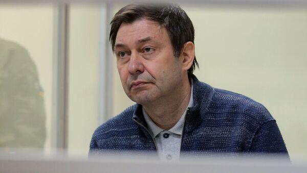 Kierownik portalu Ria Novosti Ukraina Kirił Wyszynski na posiedzeniu w Chersońskim Sądzie Apelacyjnym - Sputnik Polska
