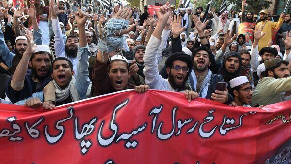 Muzułmańscy radykałowie w Pakistanie protestują przeciwko uniewinnieniu Asi Bibi - Sputnik Polska