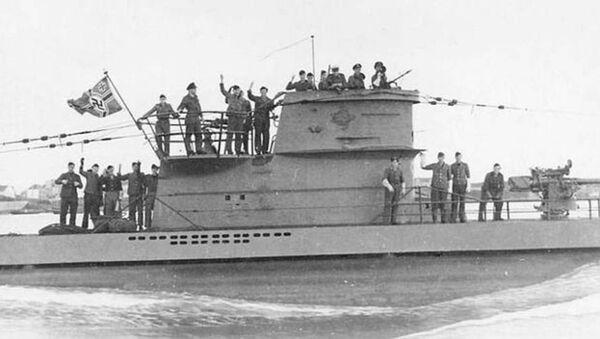 Nazistowski okręt podwodny U-2513 typu XXI (zdjęcie archiwalne) - Sputnik Polska