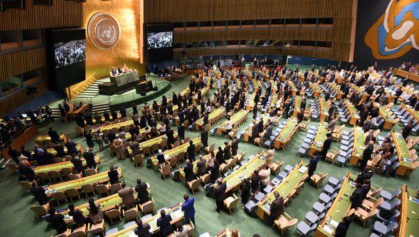 Otwarcie Zgromadzenia Ogólnego Organizacji Narodów Zjednoczonych w Nowym Jorku - Sputnik Polska
