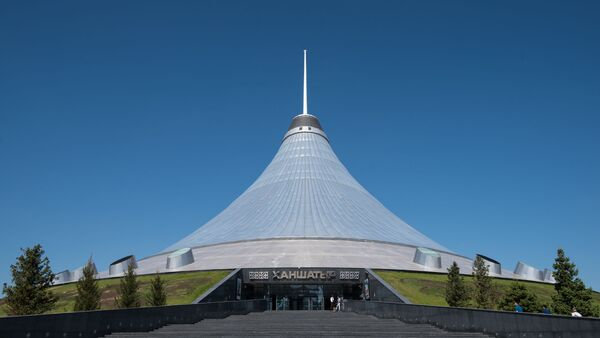 Chan Szatyr - przejrzysty namiot w Astanie - Sputnik Polska