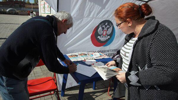 Wybory w Donbasie - Sputnik Polska