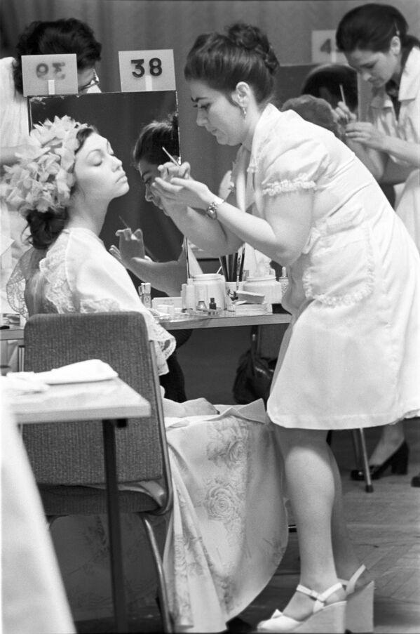 Konkurs sztuki fryzjerskiej w Moskwie, 1976 rok - Sputnik Polska