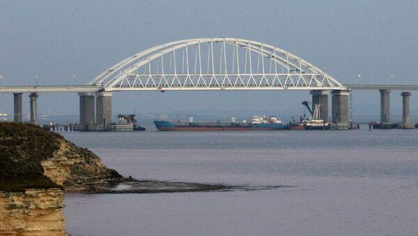 Cieśnina Kerczeńska łącząca Morze Czarne z Morzem Azowkim - Sputnik Polska