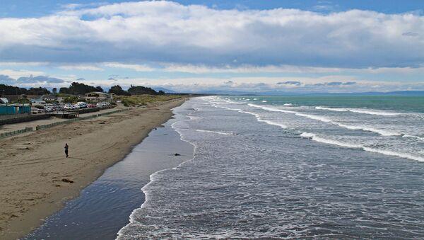 Plaża na przedmieściach Christchurch, Nowa Zelandia - Sputnik Polska
