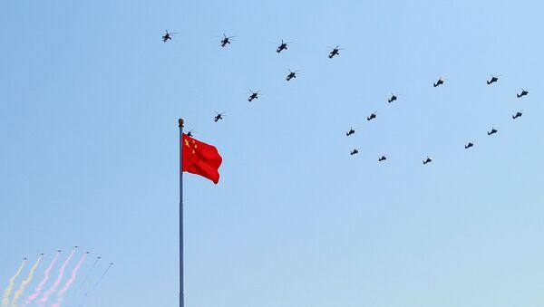 Defilada w Pekinie z okazji 70. rocznicy zwycięstwa w II wojnie światowej - Sputnik Polska
