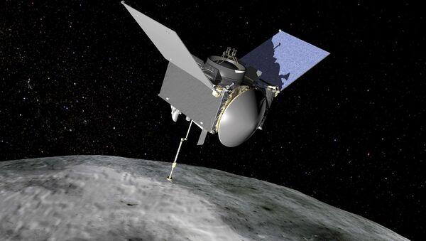 Artystyczny obraz statku kosmicznego OSIRIS-REx - Sputnik Polska