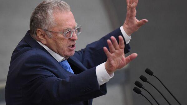 Władimir Żyrinowski na plenarnym posiedzenu Dumy Państwowej Rosji  - Sputnik Polska