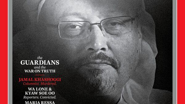 Okładka czasopisma TIMES z zamordowanym saudyjskim dziennikarzem Dżamalem Chaszodżdżim - Sputnik Polska