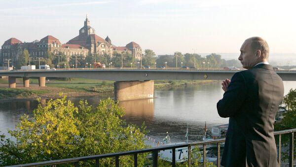 Władimir Putin w Dreźnie - Sputnik Polska