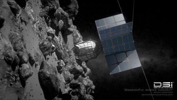 Koncepcja sondy do wierceń na asteroidach opracowana przez DragonFly firmy Deep Space Industries - Sputnik Polska