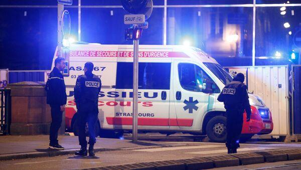Francuska policja w Strasburgu - Sputnik Polska