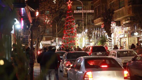 Damaszek świętuje Boże Narodzenie po wielu latach wojny - Sputnik Polska