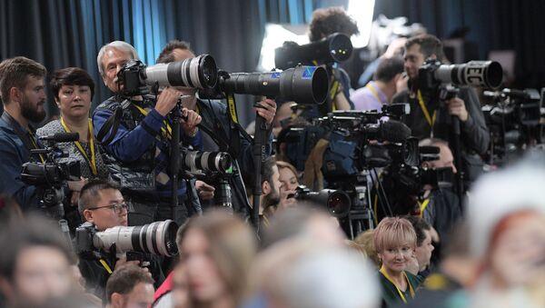 Doroczna konferencja prasowa Władimira Putina 2018 - Sputnik Polska