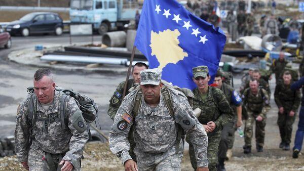 Amerykańscy żołnierze w Kosowie - Sputnik Polska