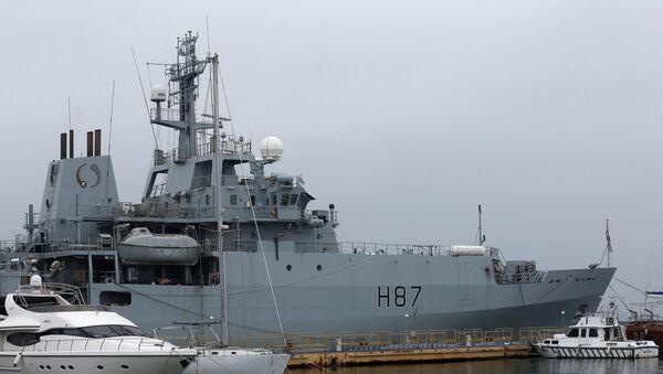 """Okręt Marynarki Wojennej Wielkiej Brytanii """"Echo"""" w porcie w Odessie na Ukrainie - Sputnik Polska"""