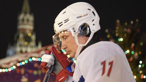 Władimir Putin zagrał w meczu towarzyskim z legendami rosyjskiego hokeja - Sputnik Polska