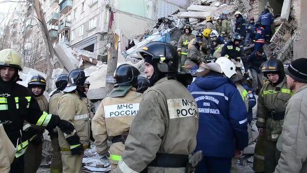 Wybuch gazu w bloku w Magnitogorsku. - Sputnik Polska
