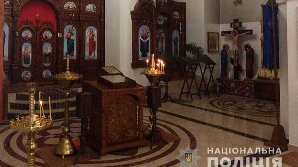 Kościół w Dobropolu na Ukrainie, skąd skradziono relikwie Jerzego Zwycięzcy - Sputnik Polska
