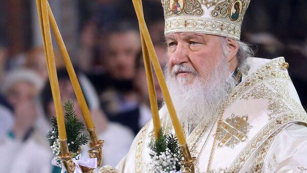 Патриарх Московский и всея Руси Кирилл во время Рождественского богослужения в храме Христа Спасителя в Москве - Sputnik Polska