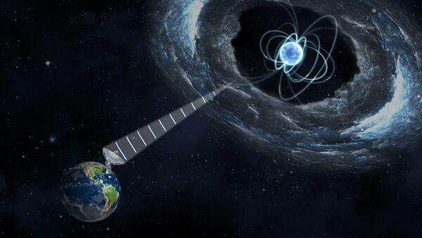 Magnetar wytwarzający szybkie błyski radiowe - Sputnik Polska