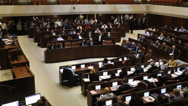 Posiedzenie izraelskiego parlamentu - Sputnik Polska