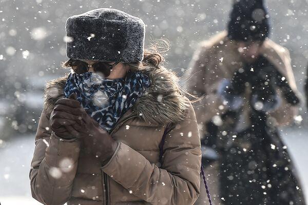 Opady śniegu w Stambule, Turcja - Sputnik Polska