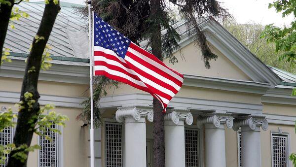 Budynek ambasady USA w Minsku, zdjęcie archiwalne - Sputnik Polska