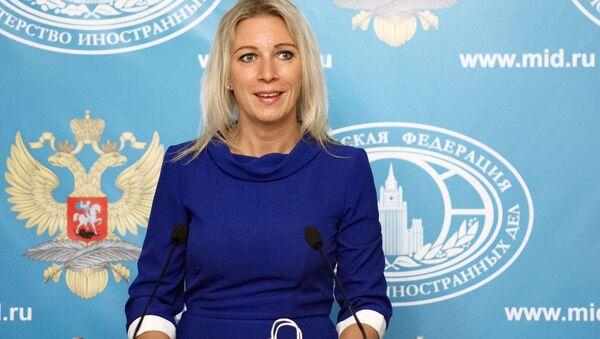Rzeczniczka MSZ Rosji Maria Zacharowa na briefingu w Moskwie - Sputnik Polska