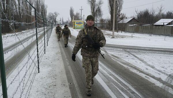 Ukraińscy pogranicznicy, Mielowoje - Sputnik Polska