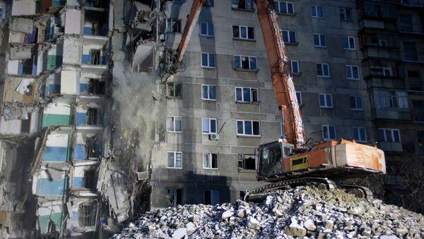 Blok mieszkalny, gdzie doszło do wybuchu gazu, Magnitogorsk - Sputnik Polska