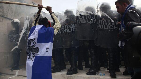 Protesty w Atenach - Sputnik Polska