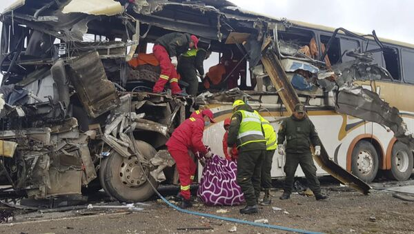 Katastrofa autobusu w Boliwii - Sputnik Polska