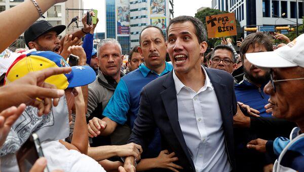 Lider opozycji w Wenezueli Juan Guaido - Sputnik Polska